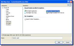 add new silverlight jscript page